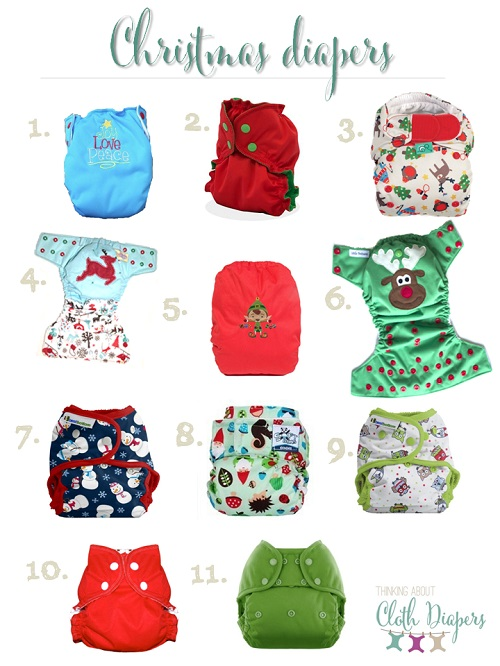 christmas cloth diapers
