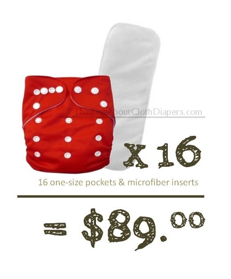 budget cloth diapers - purchase no-frills Alva pocket diapers for under $100
