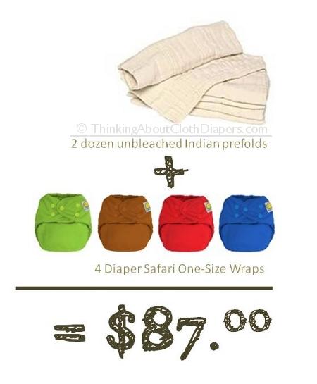 diaper safari covers and prefolds are a cheap cloth diaper option