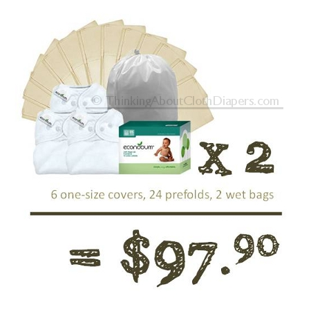Budget cloth diapers - Econobum prefolds and one-size covers from the makers of bumGenius