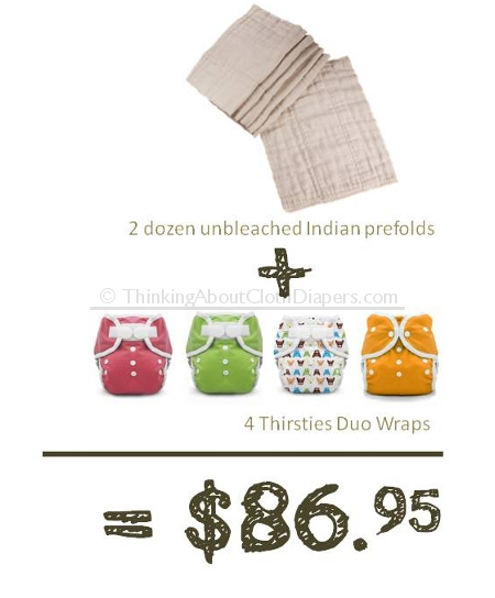 cheap cloth diapers - Osocosy prefolds and Thirsties duo diaper covers