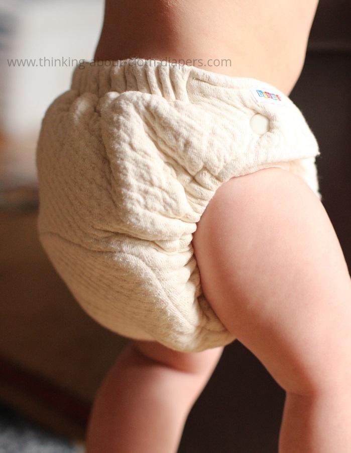 bummis organic cotton dimple diaper on baby