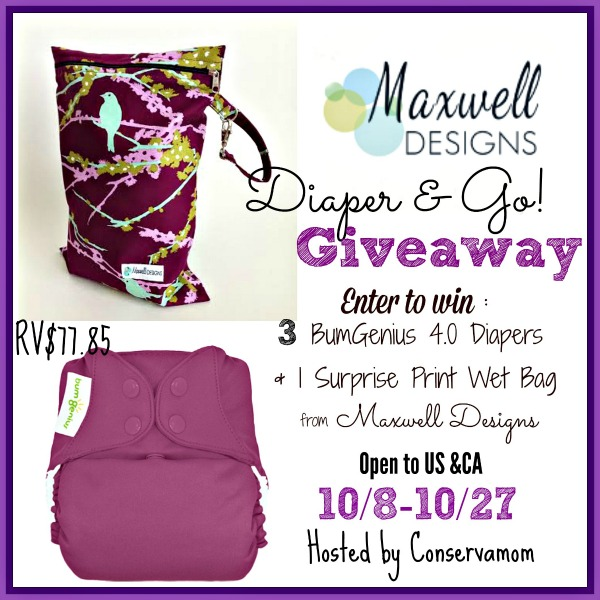 maxwell designs wet bag giveaway