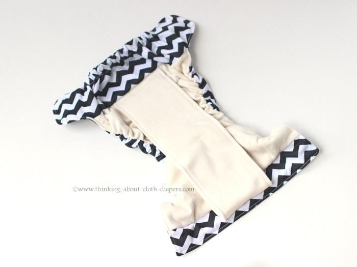 inside of Smart Bottoms organic cotton diaper