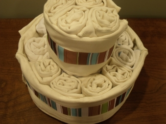 finished diaper cake