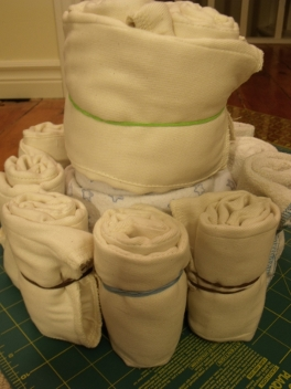 make cloth diaper cake
