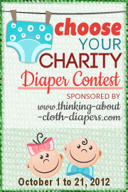 2012 Choose Your Charity cloth Diaper Event button