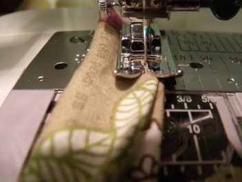 sewing a handle for a lined wet bag