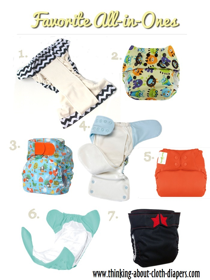 Favorite All-in-One Cloth Diapers | Thinking About Cloth Diapers
