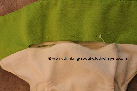 baby beduga pocket opening at front of diaper makes stuffing easy