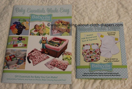 cloth diaper patterns and sewing instructions from babyville boutique