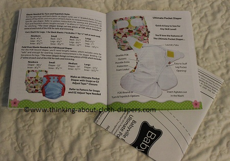 Easy to follow print cloth diaper patterns