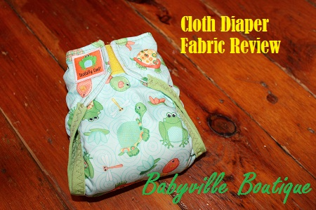 cloth diaper fabric review - babyville boutique