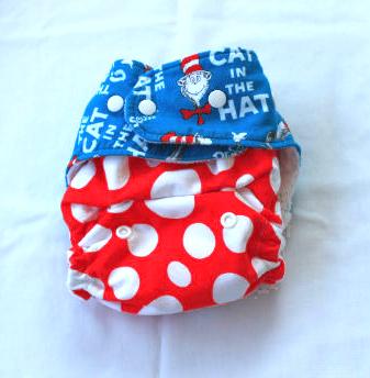 Boogie Bear Creations AI2 cloth diaper Dr. Seuss