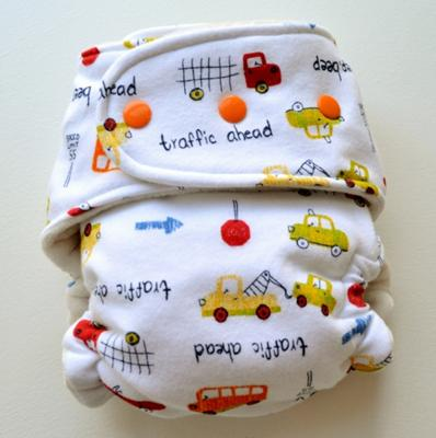 Boogie Bear Creations Custom Cloth Diaper - Traffic
