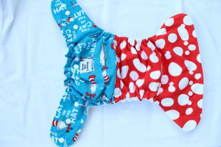 Boogie Bear Creations Dr. Seuss AI2 cloth diaper