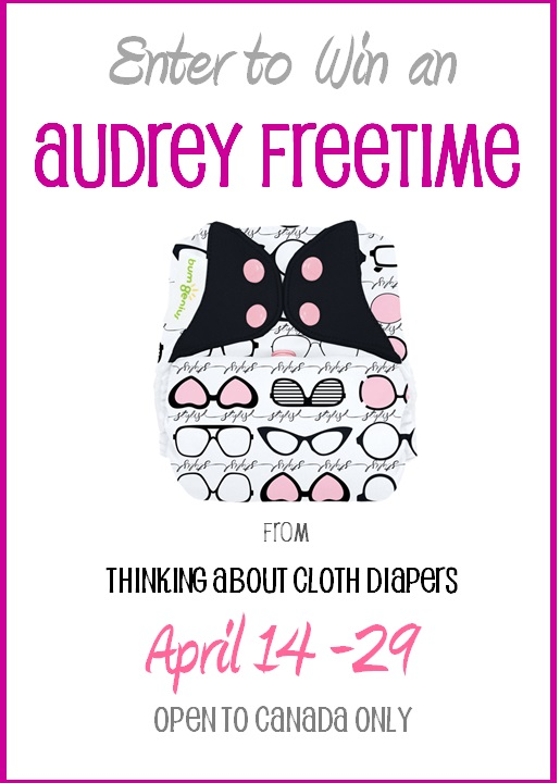 cloth diaper giveaway - audrey bumgenius