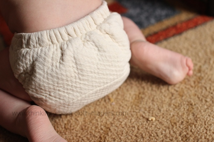 bummis fitted diaper on baby