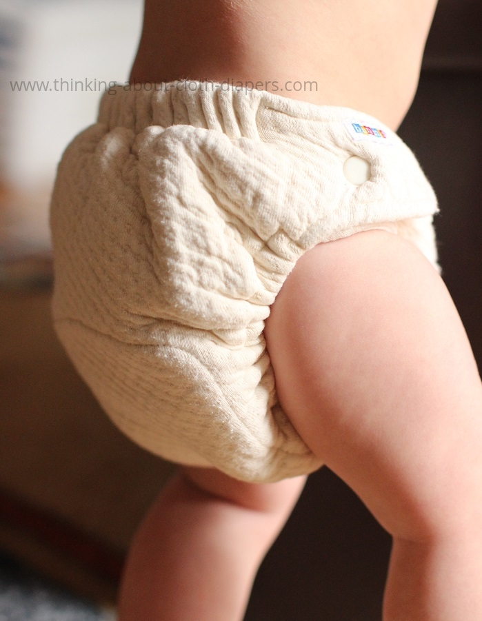bummis organic cotton dimple diaper on baby