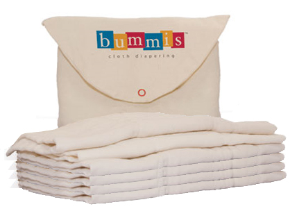 organic cotton prefolds from Bummis