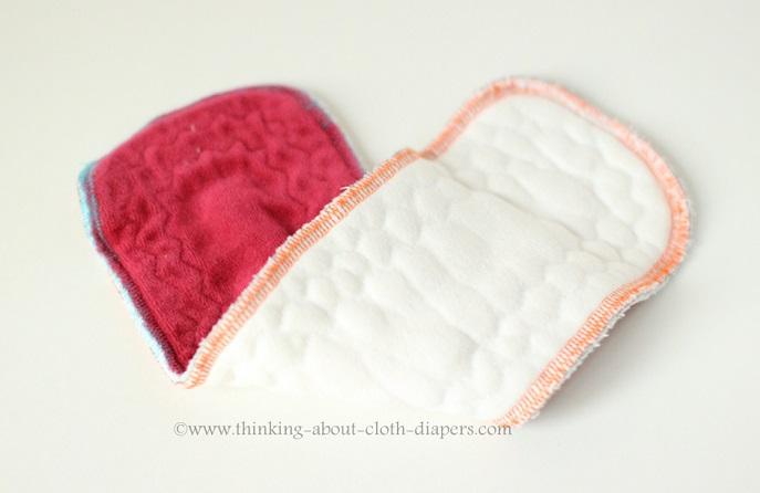 butt-ons cloth diaper insert of super heavy bamboo fleece