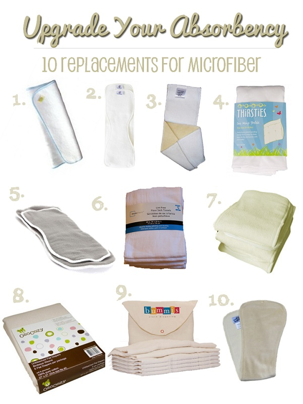 cloth diaper inserts: natural fiber insert options to replace microfiber