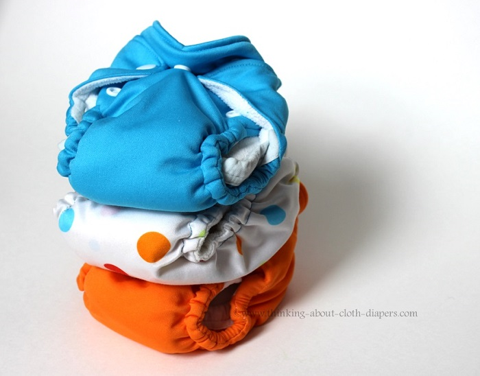 stack of newborn cloth diapers