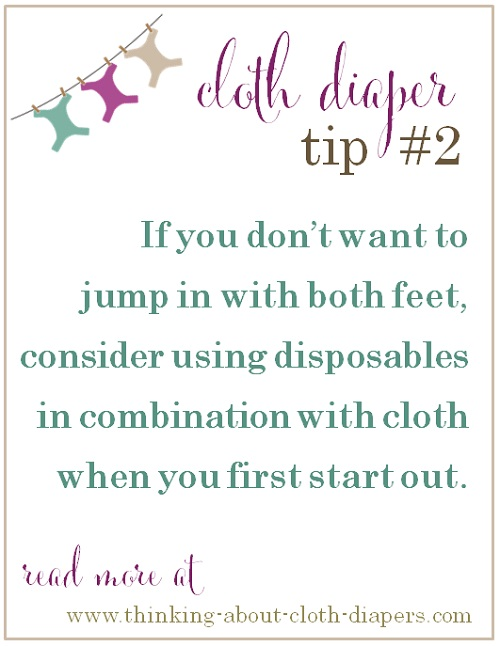 cloth diaper tips - starting out with cloth diapers