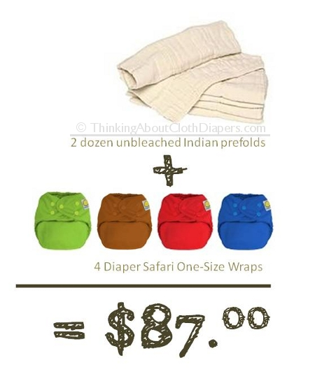 diaper safari covers and prefolds are a cheap cloth diaper option