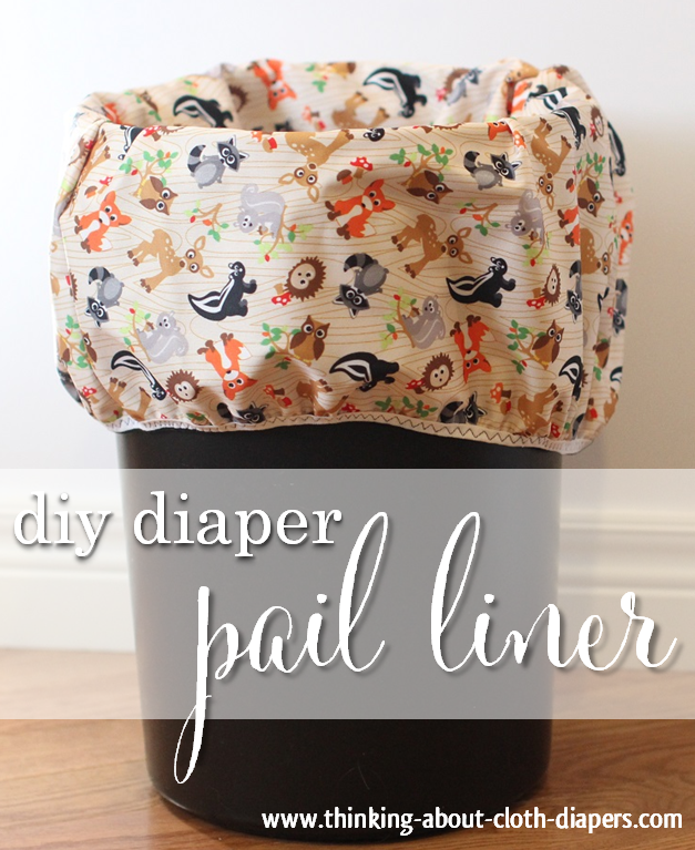 make your own cloth diaper pail liner