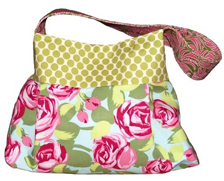 free pattern for diaper bag with pleats