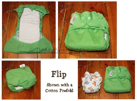 Flip cloth diaper system