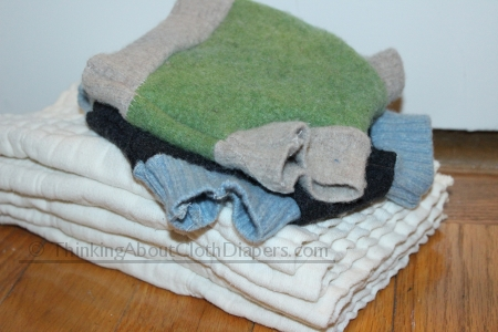 budget cloth diapers - make your own cloth diaper covers from old sweaters