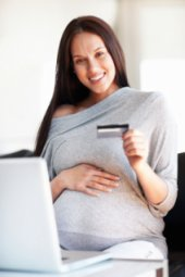Pregnant shopper buying online