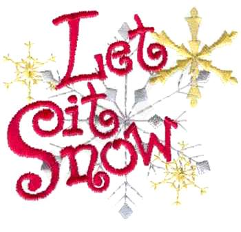 SoftBums Customers Choice holiday 2014 embroidery - Let it Snow
