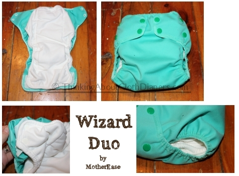 Motherease wizard Duo ai2 cloth diaper