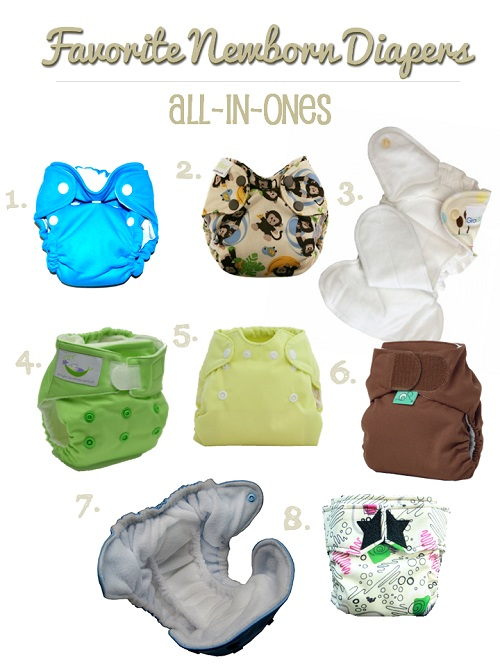 newborn cloth diapers - all-in-ones