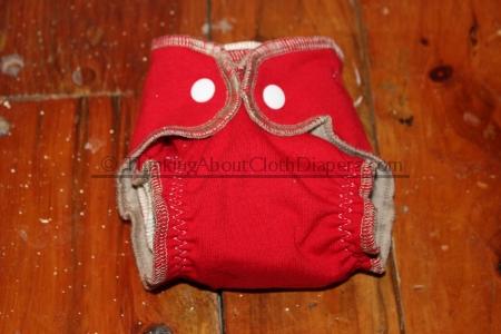 Serged newborn diaper tutorial