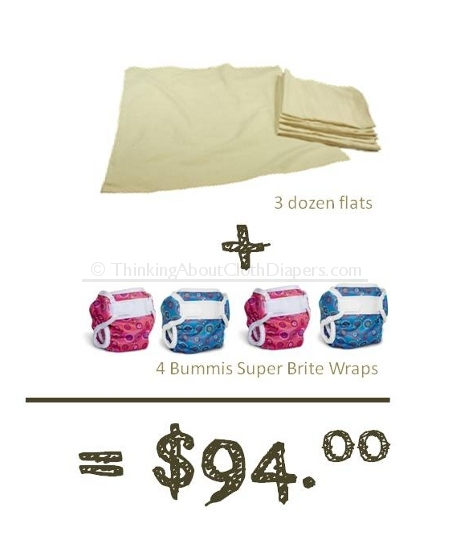 budget cloth diapers - flats and covers are an affordable option