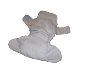 Pocket diaper with microfiber cloth diaper insert
