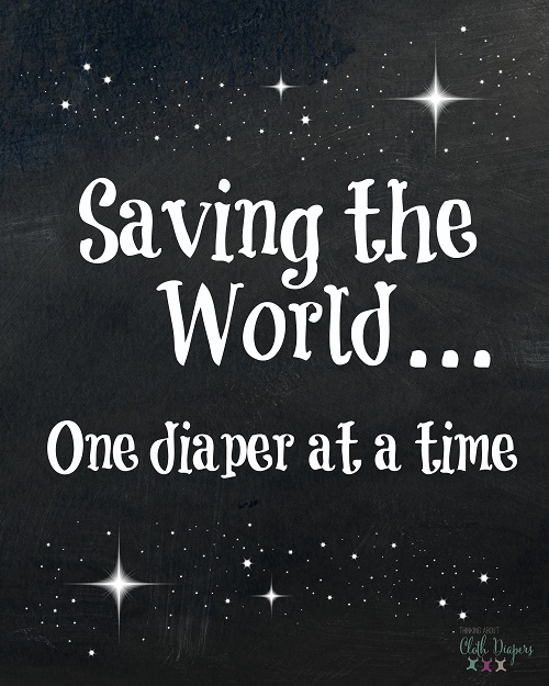 free cloth diaper printable - saving the world one diaper at a time
