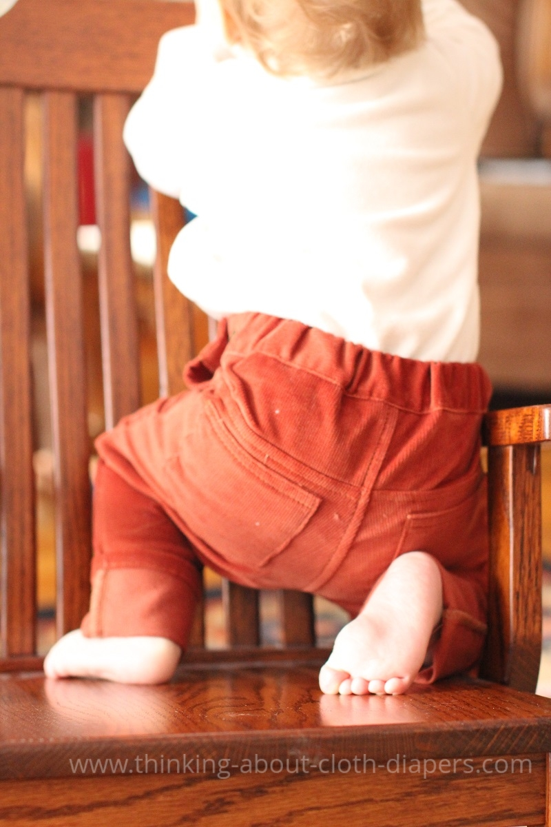 Project Pomona cords - rust | on Thinking About Cloth Diapers