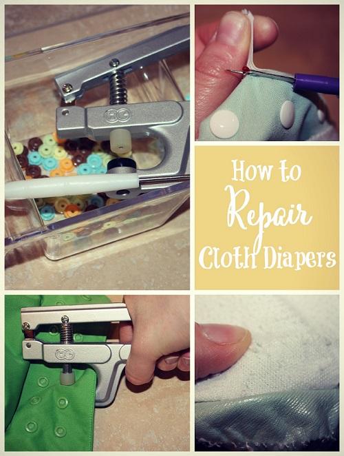 repairing cloth diapers