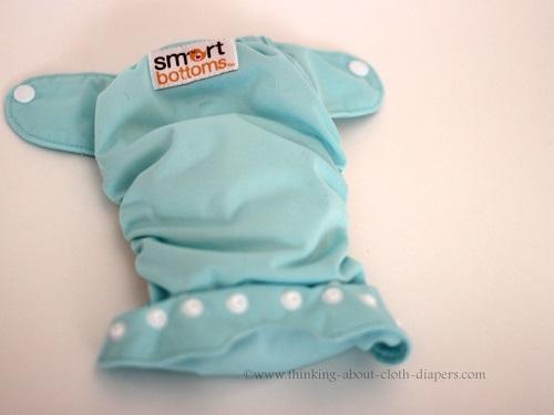 outside of smart bottoms newborn cloth diaper