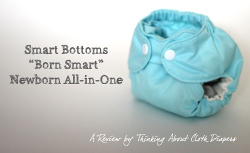 Born Smart Smart Bottoms newborn cloth diaper review