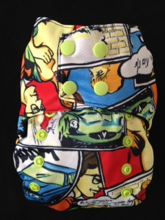Smush Tush Custom Cloth Diaper - Comics