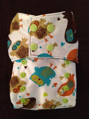 Smush Tush Custom Cloth Diaper - Retro Owls