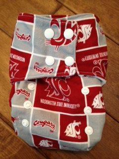 Smush Tush Custom Custom Cloth Diaper - Wazzu