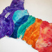 Rainbow Minky Scrappy Fitted Cloth Diaper by Soothe Baby