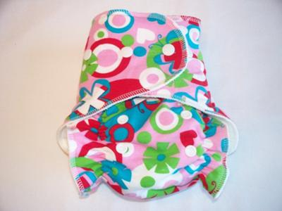 Mod Flowers One Size Fitted Cloth Diaper by Soothe Baby